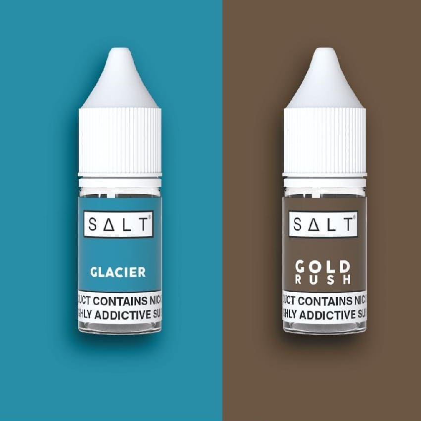 Gold rush – A luxurious tobacco blend 🍁with a cigarette-style nicotine rush: Gold Rush e-liquid by SALT serves up dark rolling tobacco 🍁 flavour with notes of nuts 🌰 and spices. Tobacco connoisseurs, this one deserves your attention.  Glacier – Treat your taste buds to an Arctic adventure with SALT Glacier e-liquid. An ice-cold blend of menthol ☘️ and crushed ice ❄ Glacier by SALT is a sub-zero experience that mint and menthol vapers will love. . . . 𝘾𝙤𝙣𝙩𝙖𝙘𝙩 𝙪𝙨 𝙩𝙤𝙙𝙖𝙮 𝙩𝙤 𝙨𝙩𝙤𝙘𝙠 𝙩𝙝𝙞𝙨 𝙥𝙧𝙚𝙢𝙞𝙪𝙢 𝙣𝙞𝙘 𝙨𝙖𝙡𝙩 𝙧𝙖𝙣𝙜𝙚 🇿🇦 . 𝐹𝑟𝑜𝑠𝑡𝑒𝑑 𝑆𝑚𝑜𝑘𝑒 𝑖𝑠 𝑆𝐴'𝑠 𝑃𝑟𝑒𝑚𝑖𝑢𝑚 𝑉𝑎𝑝𝑖𝑛𝑔 𝐷𝑖𝑠𝑡𝑟𝑖𝑏𝑢𝑡𝑜𝑟 𝑠𝑒𝑟𝑣𝑖𝑛𝑔 𝑜𝑣𝑒𝑟 100 𝑠𝑡𝑜𝑟𝑒𝑠 𝑎𝑐𝑟𝑜𝑠𝑠 𝐴𝑓𝑟𝑖𝑐𝑎 🌍