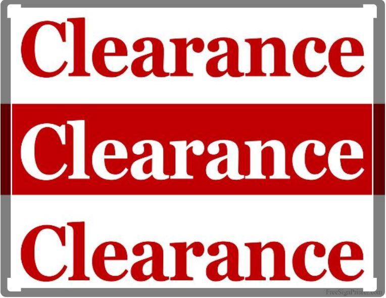 CLEARANCE - (17)